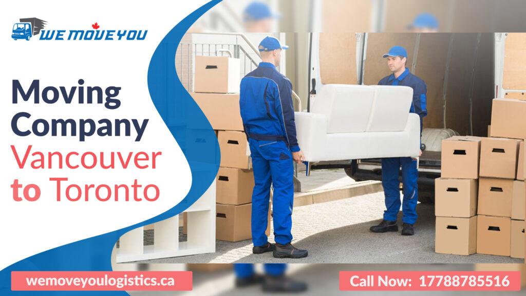 Moving Company Vancouver to Toronto